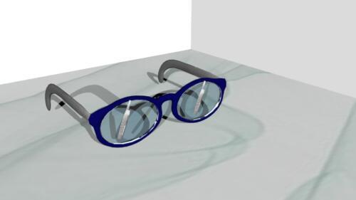 Briller med vinduesviskere